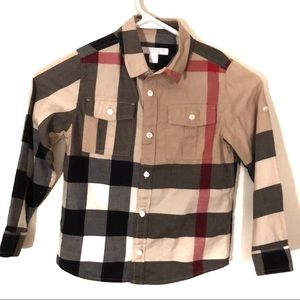 Burberry signature button down shirt